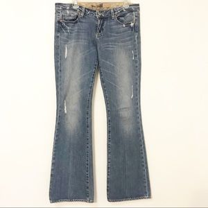 Paige | Laurel Canyon Distressed Flare Jeans 30